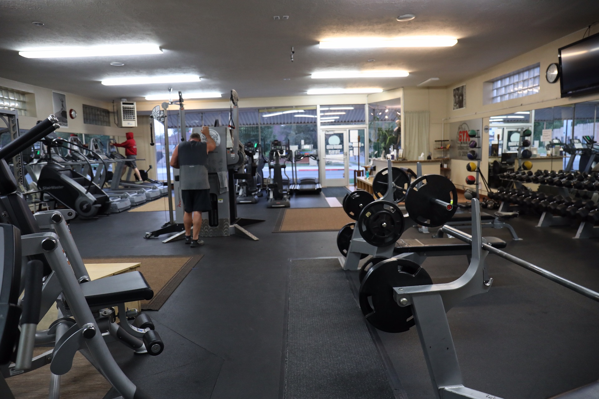 gym on main front room equipment
